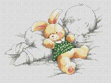 Sampler de Nacimiento Bebé & Rabino en Verde Punto de Cruz Kit Completo #5-129