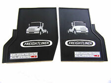 Freightliner Business Class M2  OEM Black Rubber Floor Mats 2Pc Cab W/Logo 03&up