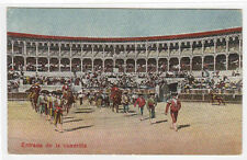 Bull Fighting Ring Entrada de la Cuadrilla Spain? 1910c postcard