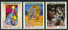 Bolivia 1201-1203,MI 1555-1557,MNH. Christmas. Madonna,Child,Nativity,Magi,2002