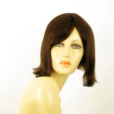 Perruque femme 100% cheveux naturel châtain ref EMY 6