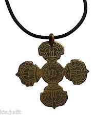 Amuleto Talismano  Vajra Dorje Doppia Croce