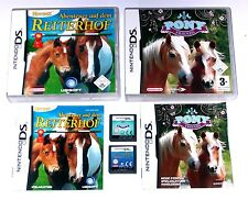 Spiele: PONY FRIENDS + ABENTEUER REITERHOF / PFERDE SPIELE / Nintendo DS + Lite