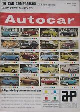 Autocar magazine 14/4/1964 featuring Panhard 24CT Sports Coupe road test
