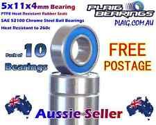 5x11x4mm Bearings (10) RC Tamiya 1150 HPI Savage Traxxas Axial Losi  MR115-2RS