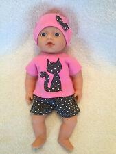 Schuhe und Handschuhe Mützenset passend für Baby Born Weiss/Pink Mütze Schal