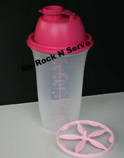 Tupperware Quick Shake - Blender / Mixer / Shaker 2 cup Pink Seal New