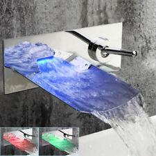 Светодиодный водопад латунь носик бассейн раковина настенное крепление ванна хром Смеситель кран краны