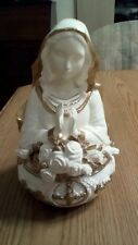 THE FRANKLIN MINT AVE MARIA MUSIC BOX,24K GOLD TRIM,PLAYS AVE MARIA,PORCELAIN