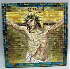 Master-Crafted Gold Tile ITALIAN MOSAIC Plaque of Jesus ORSONI VENEZIA VENICE 12