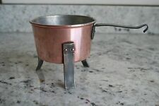 Antique Copper Kettle/Pot Hand Forged Riveted Tin Lined 1880s in Sweden