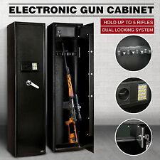5Gun Rifle Storage Electronic Lock Safe Steel Cabinet Lockbox Firearm Heavy Duty