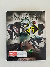 PS3 GAME - INJUSTICE GODS AMONG US - with manual - PLAYSTATION 3 STEEL CASE