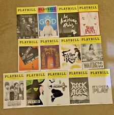 Playbills - Lot of 13 Playbills from Broadway Shows from 2013 to 2017