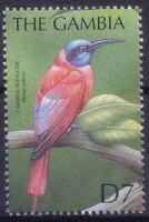 Northern Carmine Bee-eater, Merops nubicus, Birds, Gambia 2000 MNH (B5n)