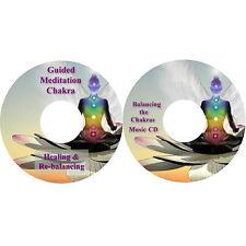 Guided Meditation Chakra Healing and Re-balancing and Chakras Music on 2 CDs