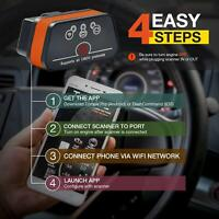 ELM327 OBD2 Torque AUTO Scanner Fit For Android IOS Apple iPhone Car Code Check