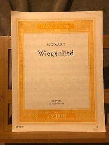 Mozart Wiegenlied Berceuse pour piano partition éditions Schott ED 05758