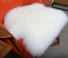 UK Irregular Wool Sheepskin Mat Sofa Bedroom Cushion Rug Floor Carpet White