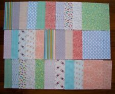 "30 x 5"" Squares Pretty Spring Pastel Quilting Patchwork Fabrics"
