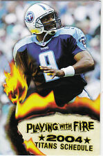 2004 TENNESSEE TITANS FOOTBALL POCKET SCHEDULE