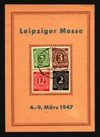 Germany 1947 Leipziger Messes Event Card w/ 4 Numerals - Z16744