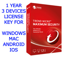 Trend Micro Maximum Security 2020 1 Year 3 Devices License Key