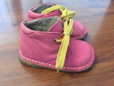 Girls Size 5 Baby Toddler Lamour Pink Leather Shoes Boots Walking