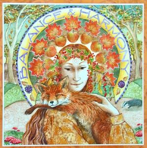 Wendy Andrew Pagan Card wicca goddess birthday hare yule solstice equinox yule