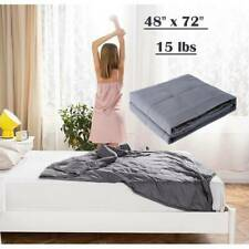 Anxiety Weighted Blanket 72'' x 48'' Twin Size Reduce Stress All Ages 15lbs