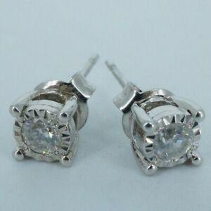 925 Diamond Stud Earring's