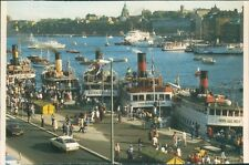 Postcard Sweden Stockholm Ferry Terminal And Ferries Posted 1998
