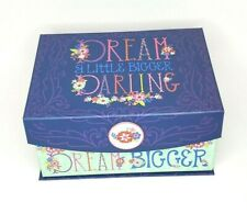 Dream A Little Bigger Darling Keepsake Box Karla Pruitt Design Navy Blue 10x8x6