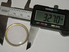 Verre 327 plexi plastic crystal with gold tone large tension ring index  32.7 mm