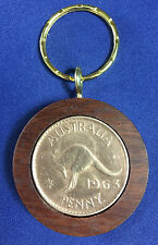 1963 Birthday Gift Present Jarrah Australian Penny Keyring other years available