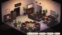 Animal : Crossing Modern Living Room