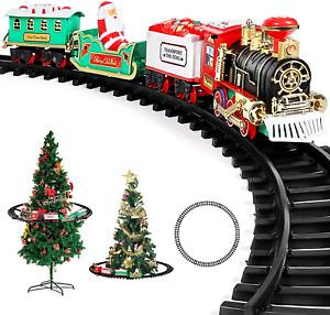 Christmas Tree Train Decoration Set Home Xmas Tree Light Sound Battery Operated