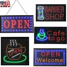 "Super Bright Led ""Open"" Sign Board Pub Club Window Display Light Lamp Shop Bar"