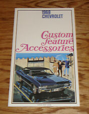 1968 Chevrolet Custom Feature Accessories Sales Brochure 68 Chevy Impala Caprice