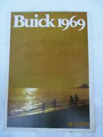 Buick 1969 Riviera Electra Wildcat LeSabre Sportwagon Skylark Prospekt Brochure