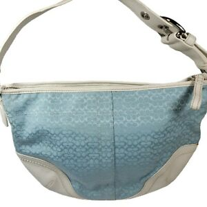 Authentic Coach Turquoise Baby Blue Hobo Shoulder Handbag #K0720-F10924 Logo Tag