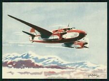 art Gachons Cudron Goeland Airplane Wwii ww2 war original c1940s postcard