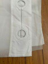 Hookless RBH80MY047 Fabric Shower Curtain Built in PEVA Liner-White DobbyPique
