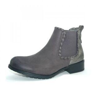 Kayla Damen Chelsea Boots Stiefelette Grau Schuhe leicht gefüttert