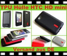 Funda de TPU bolsa funda protectora HTC HD mini móvil de silicona, bumper, protección, estuche, protección cáscara