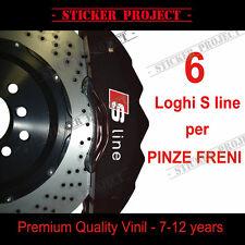 ADESIVI AUDI PINZE FRENI S LINE A1 A3 A4 A5 A6 TT S3 S-line