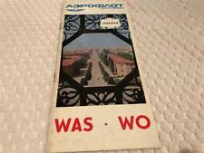 AEROFLOT AIRLINES 1960s brochure Jerewan Yerevan Armenia