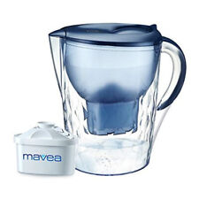 Aquavero 14-Cup Water Filtration Pitcher with Mavea Maxtra Filter, Everest Blue