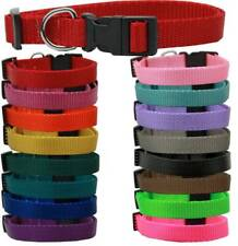 Mirage Pet Products - Plain Nylon Dog Collar and Leash Combo