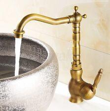 Antique Brass Swivel Kitchen Sink bathroom basin Mixer Tap znf014